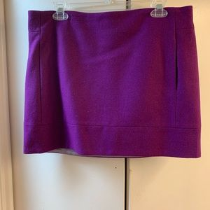 J Crew wool blend mini skirt